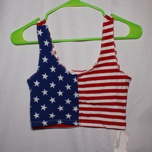 NWT American Apparel Stars & Stripes Crop Top